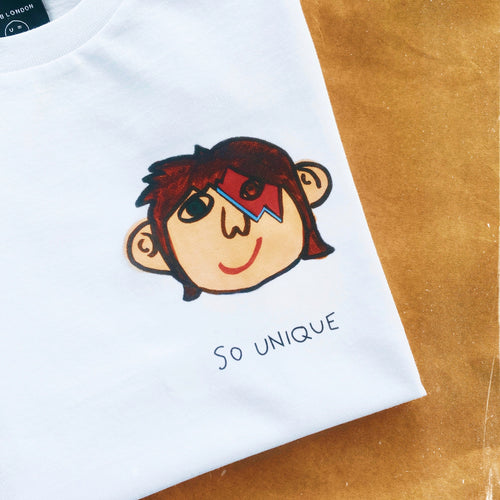 'So Unique' White T-shirt - BULB LONDON