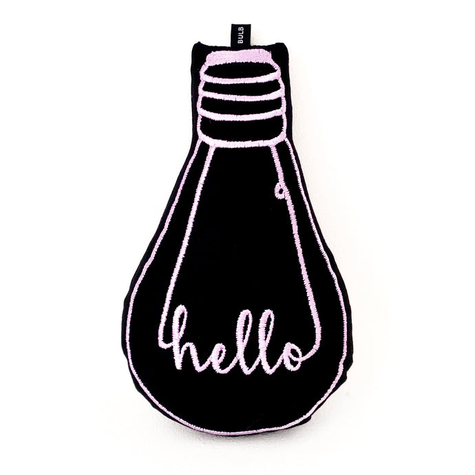 'hello' bulb cushion - BULB LONDON