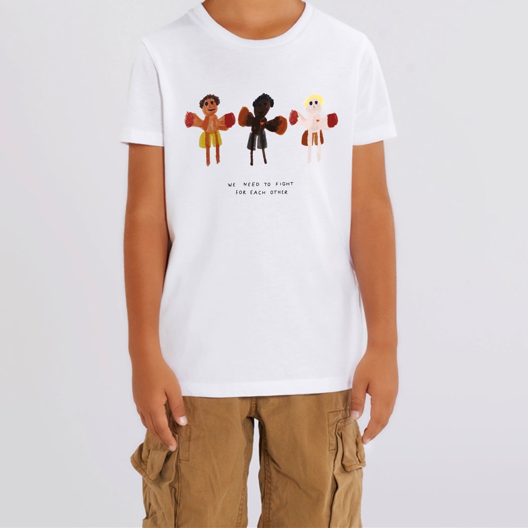 'We Need To Fight For Each Other' White T-shirt - BULB LONDON