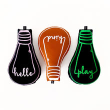 Load image into Gallery viewer, 'hello' bulb cushion - BULB LONDON