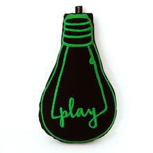 Load image into Gallery viewer, 'play' bulb cushion - BULB LONDON