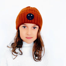 Load image into Gallery viewer, 'Bulb' Brown Beanie Hat