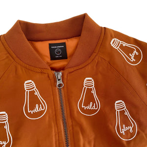 'Bulb' Brown Bomber Jacket - BULB LONDON