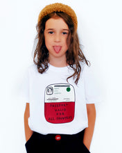 Load image into Gallery viewer, 'Passport' White T-shirt - BULB LONDON