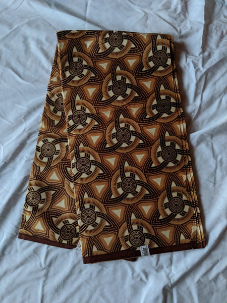 Colorful Ankara 100% cotton fabric Six yards of material, choosing to design any type of outfit brown tan cream