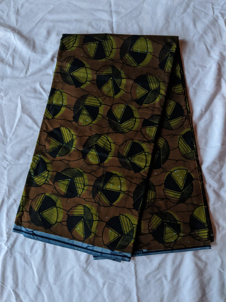 Colorful Ankara 100% cotton fabric Six yards of material, choosing to design any type of outfit olive green black brown