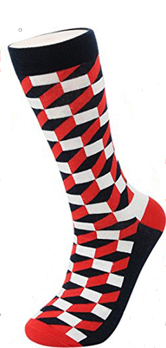 Unisex male female colorful cotton lycra good quality fabric red black white design socks