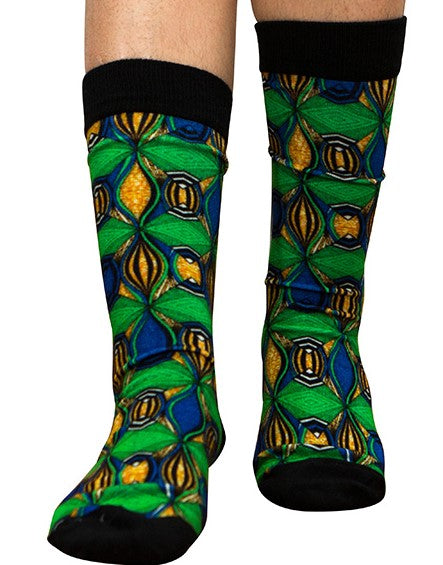 Unisex male female colorful cotton lycra good quality fabric green blue yellow black design socks