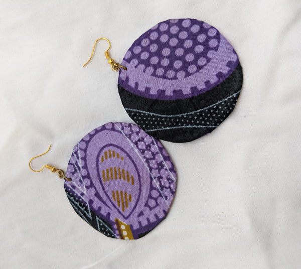 Colorful Ankara Fabric Earrings
