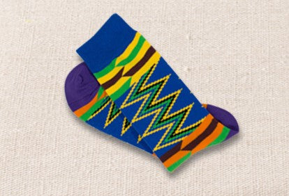 Unisex male female colorful cotton lycra good quality fabric blue yellow green orange purple black zigzag design socks