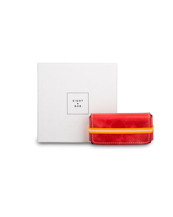 Pomodoro Red Leather Case