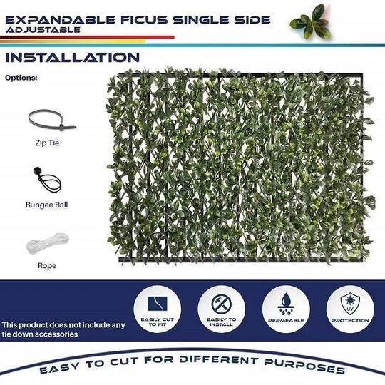 [Holiday promotion 50%]-OFF Expandable Faux Privacy Fence