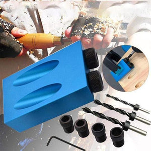 Alloy Angle Drill Guide Woodworking Tool Puncher Positioner