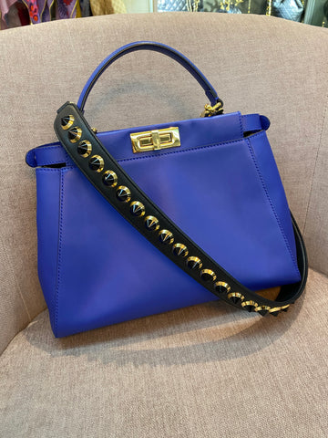 Fendi Ridged Peekaboo Bag & Fendi Purse Strap