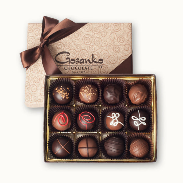 Liquor Truffle Box of 12