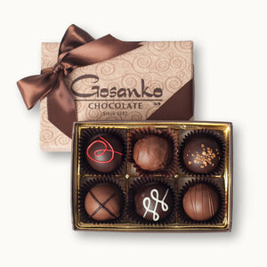 Liquor Truffle Box of 6