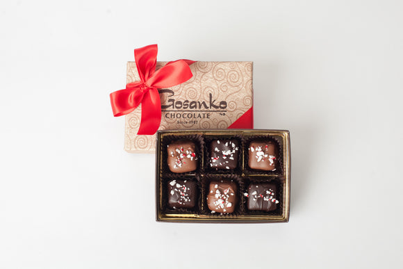 Peppermint Caramels Box of 6