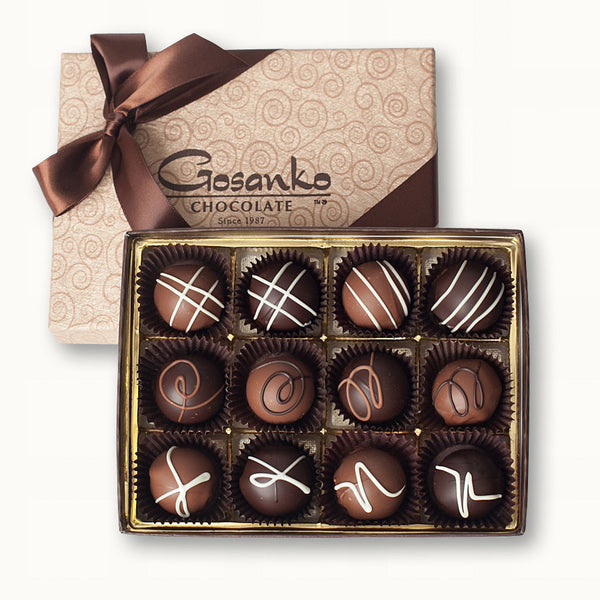 Very-Berry Truffle Box of 12
