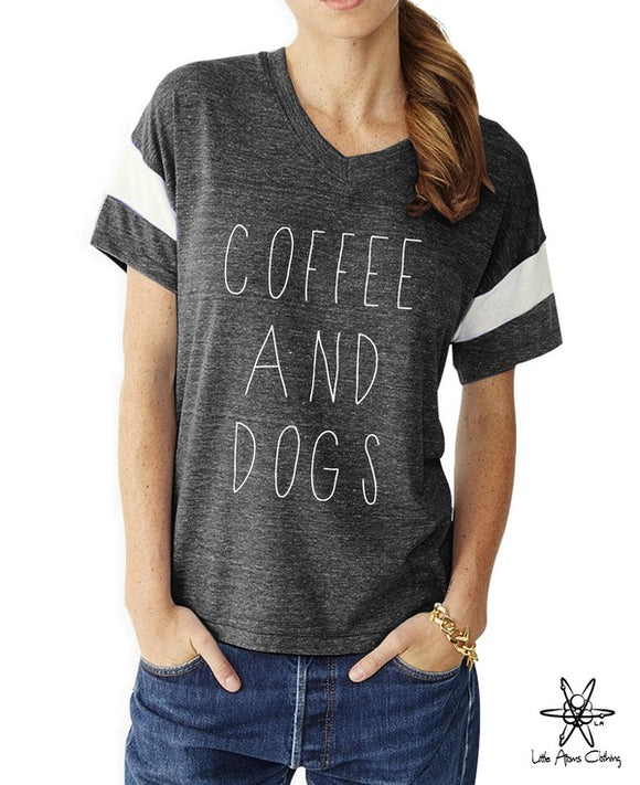 Coffee and Dogs Powder Puff Tee