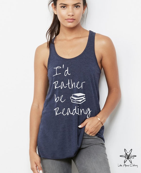 I'd Rather Be Reading Bella Flowy Tank