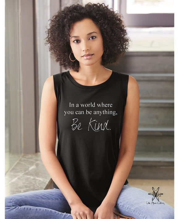 Be Anything Be Kind Cap Sleeve Tee