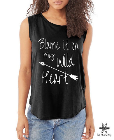 Blame it on my Wild Heart Cap Sleeve Tee