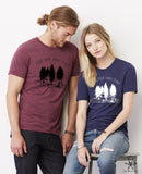 Find your Happy Place Unisex Crew Tri Blend tee shirt