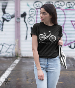 I Love my Bike Unisex Crew Tri Blend tee shirt