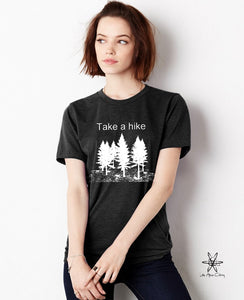 Take a Hike shirt Unisex Crew Tri Blend tee shirt