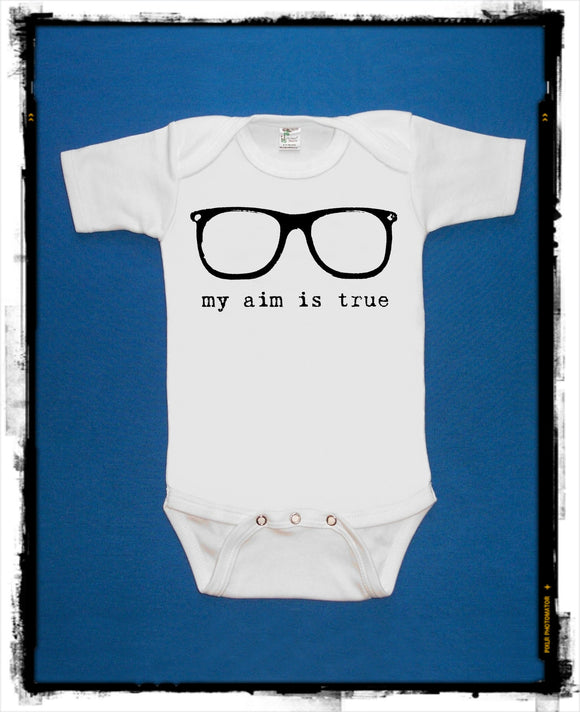 My Aim is True Glasses Bodysuit