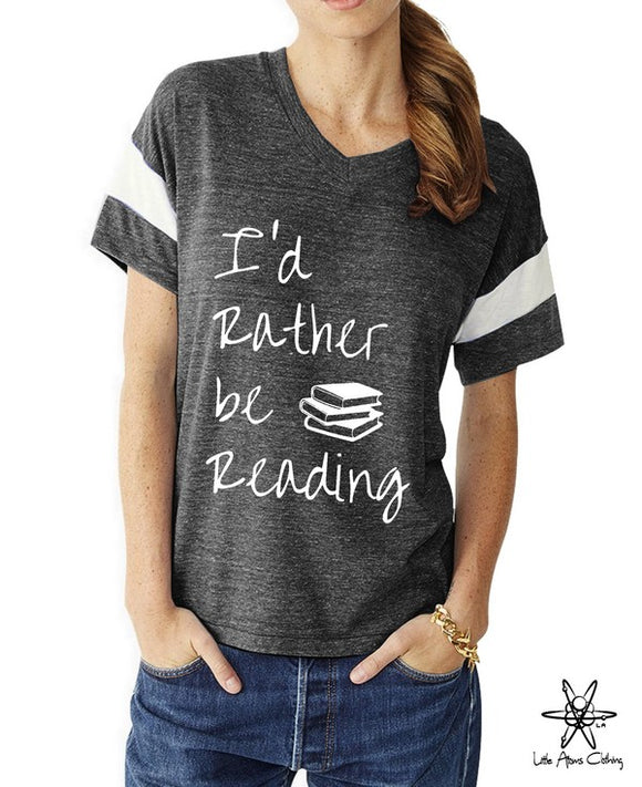 I'd Rather be Reading Powder Puff Tee
