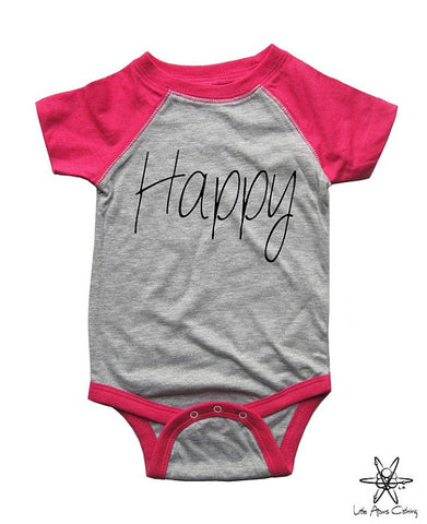 Happy Raglan Bodysuit