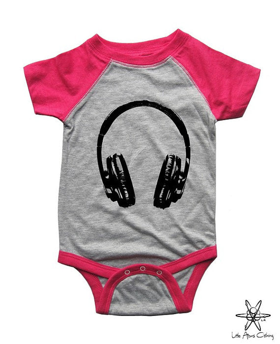 Headphones Raglan Bodysuit