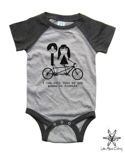 Jack And Meg I Can Tell We Are Gonna To Be Friends Raglan Bodysuit