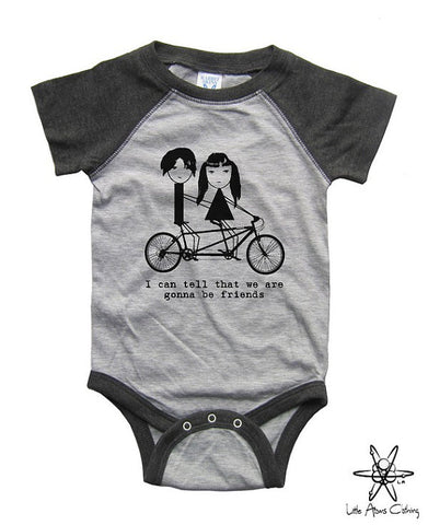 Jack And Meg I Can Tell We Are Going To Be Friends Raglan Bodysuit