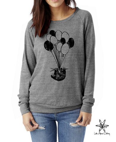 Sloth on Balloons Pullover