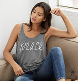 Peace Slouchy Tank Top