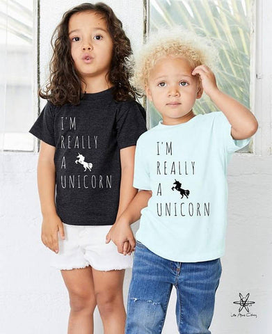 I'm Really A Unicorn Toddler Tee