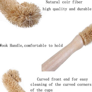Brown Coconut Fiber Bottle Cleaning Brush