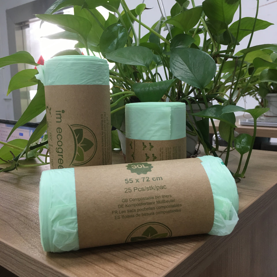 compostable cornstarch trash bags