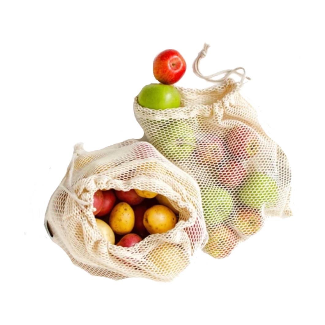 Cotton Mesh Bags - Set of 2
