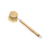 Wooden and Sisal Dish Brush with 2 Pieces Replacement Brush Heads