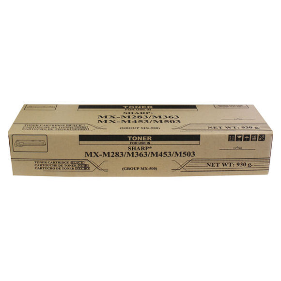 Compatibles - Generic Copier STMX500NT Non-OEM New Build Black Toner Cartridge (Alternative for Sharp MX-500NT) (930 gm) (40,000 Yield)