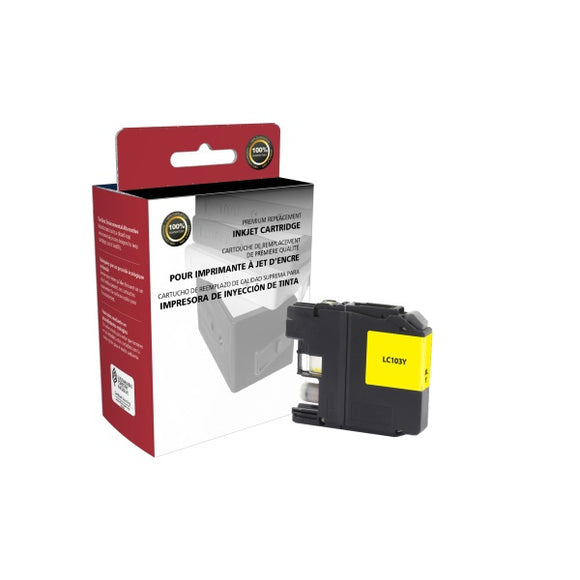 Clover Imaging Group 118069 Remanufactured High Yield Yellow Ink Cartridge (Alternative for Brother LC103Y) (600 Yield)