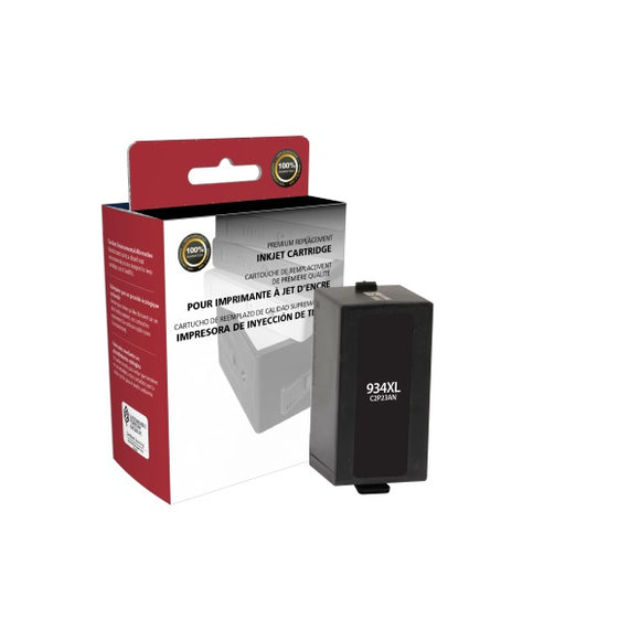 Clover Imaging Group 118083 Remanufactured High Yield Black Ink Cartridge (Alternative for HP C2P23AN 934XL) (1,000 Yield)