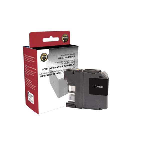 Clover Imaging Group 118103 Remanufactured High Yield Black Ink Cartridge (Alternative for Brother LC203BK) (550 Yield)