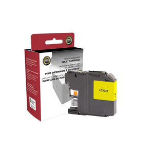 Clover Imaging Group 118106 Remanufactured High Yield Yellow Ink Cartridge (Alternative for Brother LC203Y) (550 Yield)