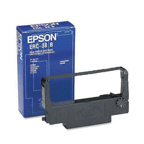 Epson ERC-38BR Black/Red Fabric Ribbon (1.5M/750K Characters) - Technology Inks Pro, LLC.