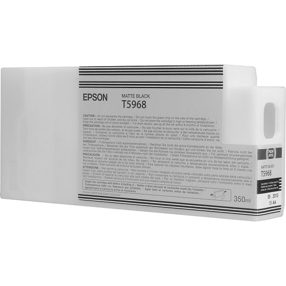 Epson T596800 Matte Black Ultrachrome HDR Ink Cartridge (350 ml)