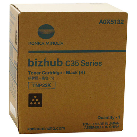 Konica Minolta A0X5132 Black Toner Cartridge (5,200 Yield)